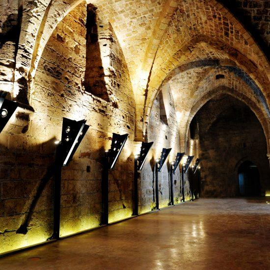 Knight templar castle in Acre,  Israel.